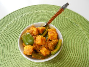 Simla Mirch & Paneer ( Bellpeppers & Indian Cheese)